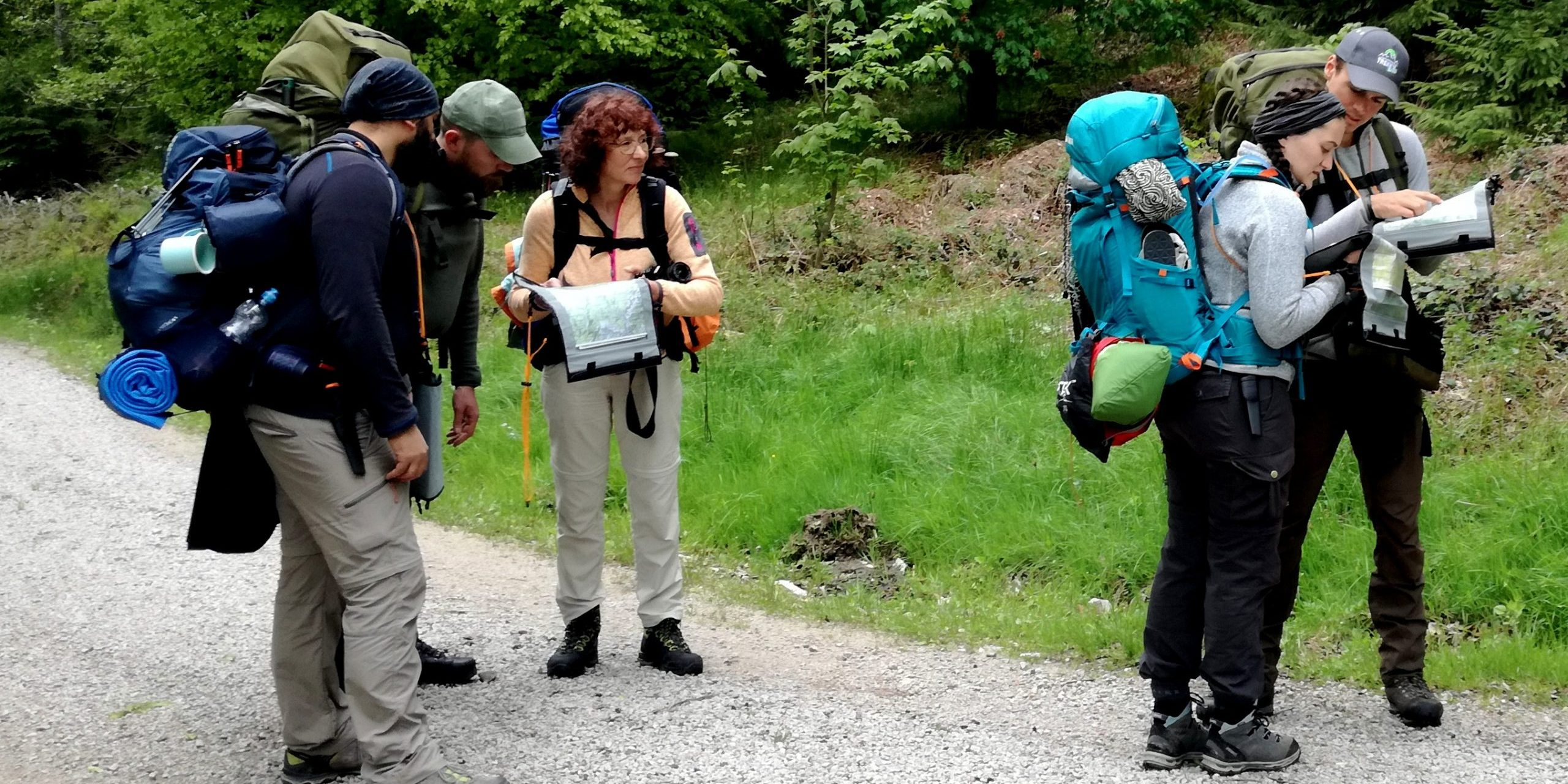 Unterwegs beim Trekking
